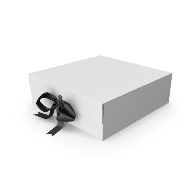 White Box with Black Ribbon