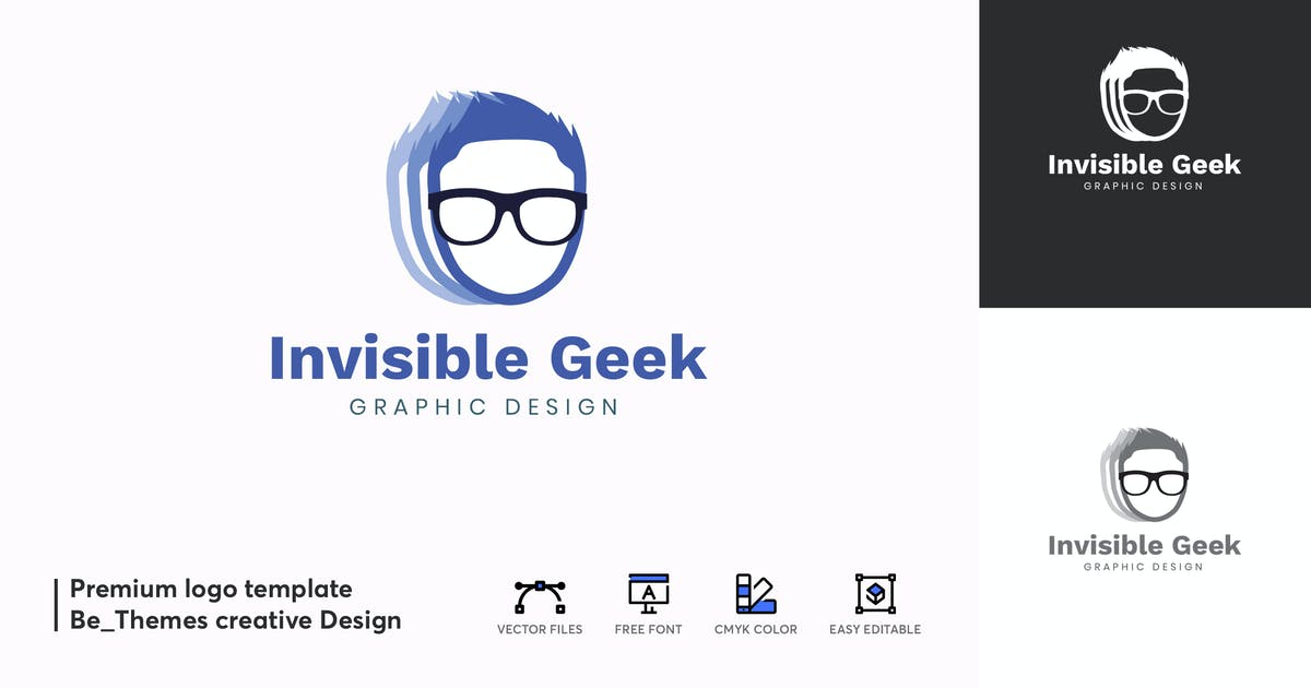 Download Invisible Geek Logo Template by Be_Themes