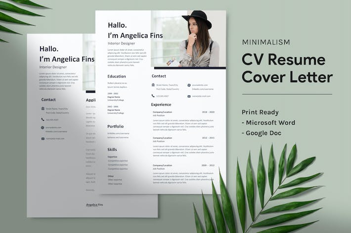 Thumbnail for Angelica - CV Resume Template