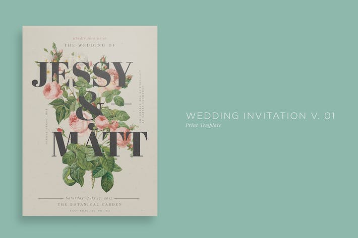Thumbnail for Wedding Invitation V01