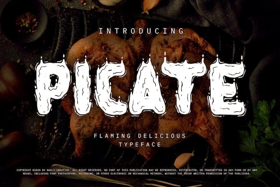 Picate - Flaming Decorative Typeface