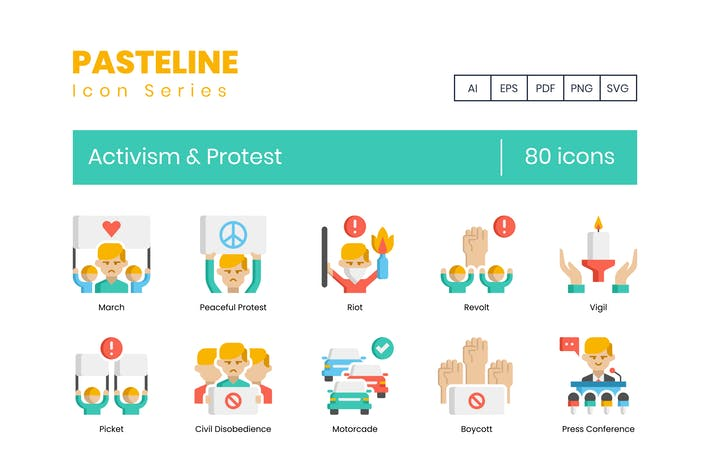 Thumbnail for 80 Activism & Protest Flat Icons