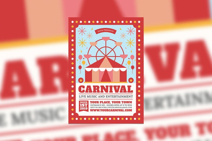 Thumbnail for Carnival Event Flyer