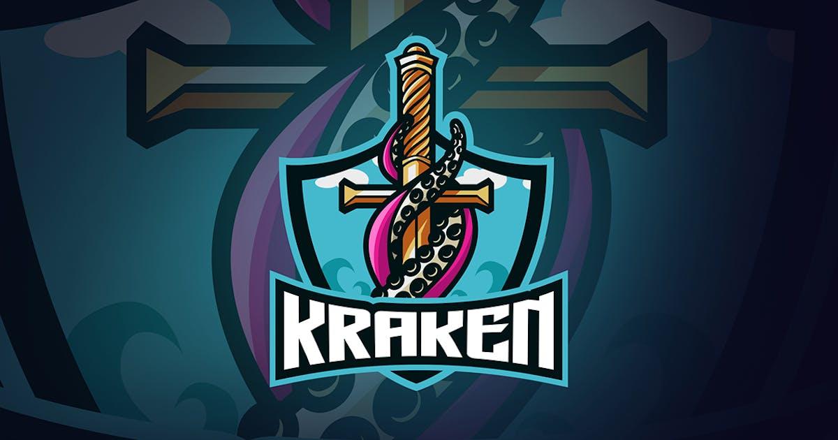 Download Kraken sword esport logo template by wudelmbois
