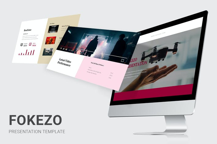 Thumbnail for Fokezo - Video Content Creator Powerpoint