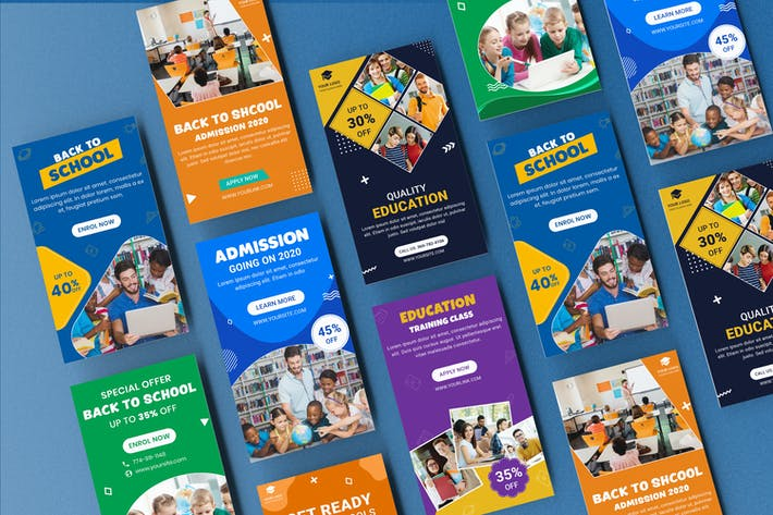 Thumbnail for Education Learning Google Adwords Banner Template