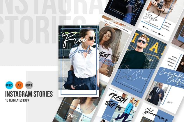 Bluesky - Fashion Instagram Stories Template