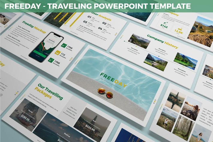 Thumbnail for Freeday - Traveling Powerpoint Template