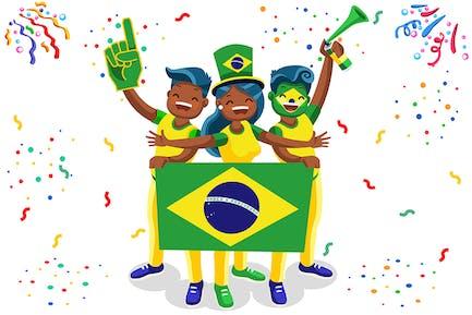 Fans de football Brésil