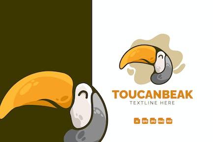 Toucan Beak Modern Logo Design