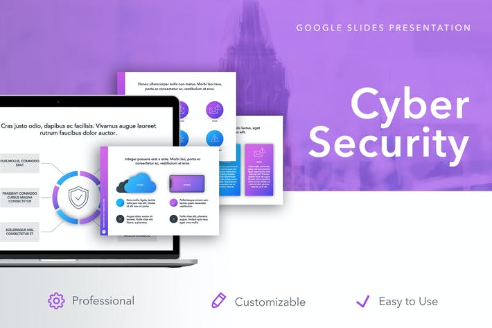 Thumbnail for Cyber Security Google Slides Template