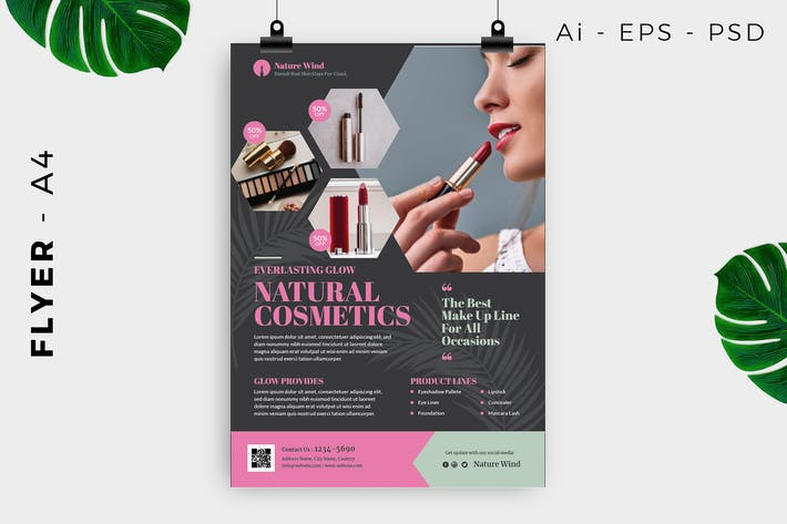 Cosmetics / Skin care flyer template Promotion