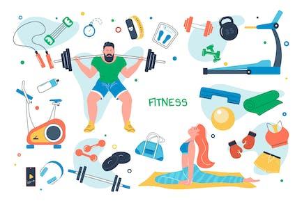 Fitness Set Elementos aislados