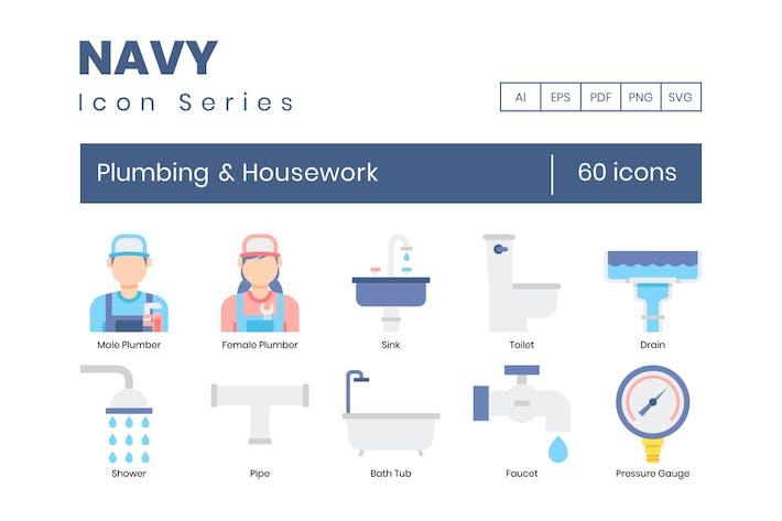 Thumbnail for 60  Plumbing & Housework Flat Icons