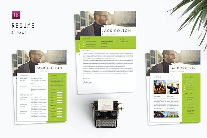 Thumbnail for Colton Resume Designer