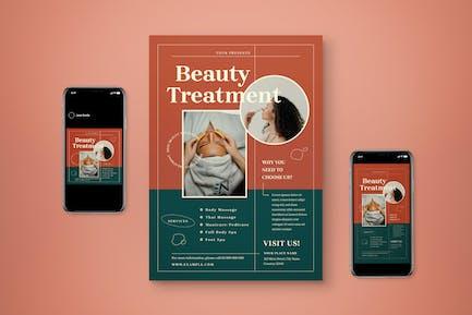 Beauty Treatment Flyer Set