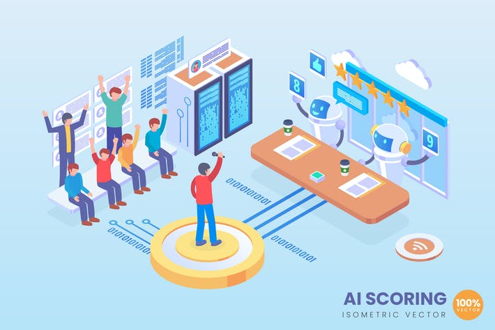 Thumbnail for Isometric AI Automated Scoring Vector Concept