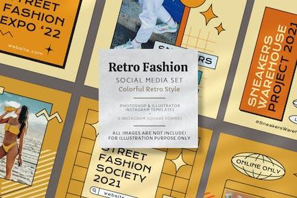 Colorful Retro Fashion Instagram Post