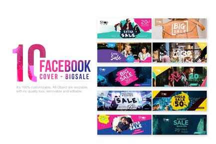 10 Facebook Cover-Big Sale