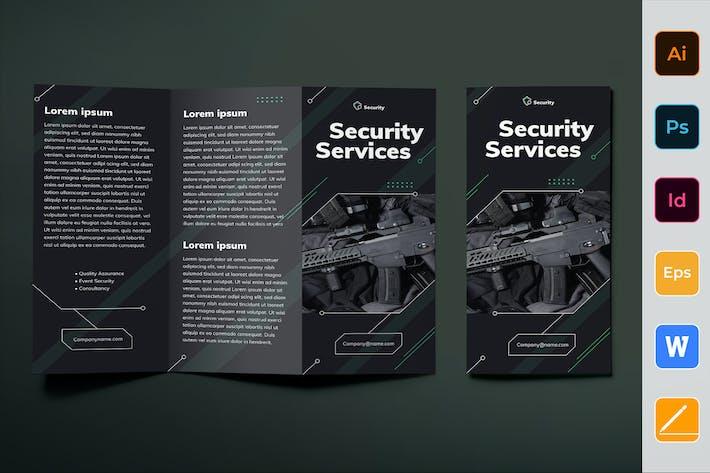 Sicherheits-Services-Broschüre dreifach