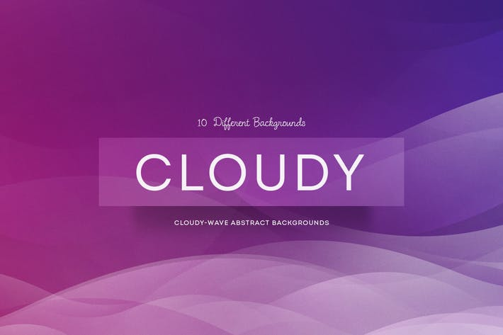 Thumbnail for Cloudy-wave Abstract Backgrounds