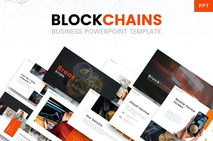 Thumbnail for Blockchains - Business Powerpoint Template