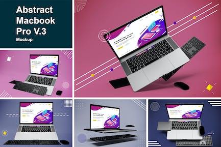 Abstract Macbook Pro Mockup V.3