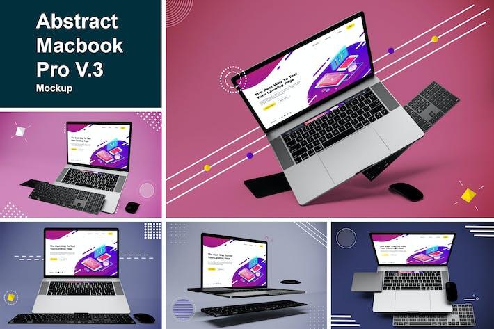 Thumbnail for Abstract Macbook Pro Mockup V.3