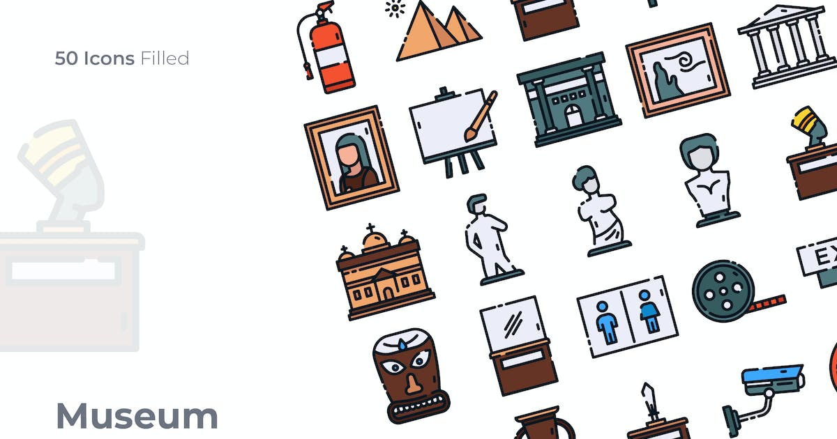 Download Museum Filled Icon by GoodWare_Std