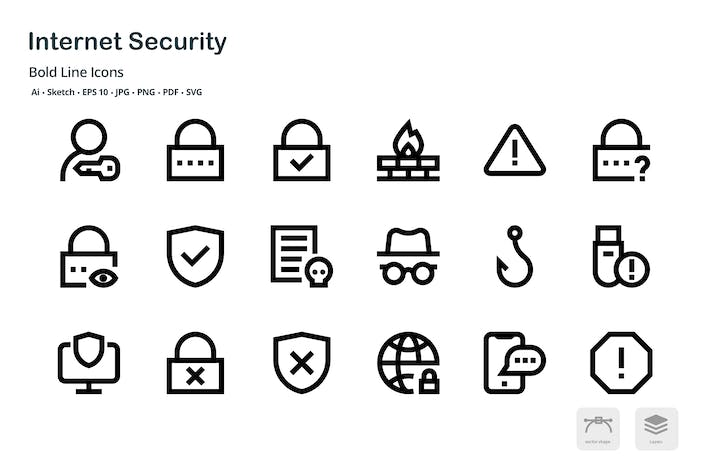 Thumbnail for Internet Security Mini Bold Line Vector Icons