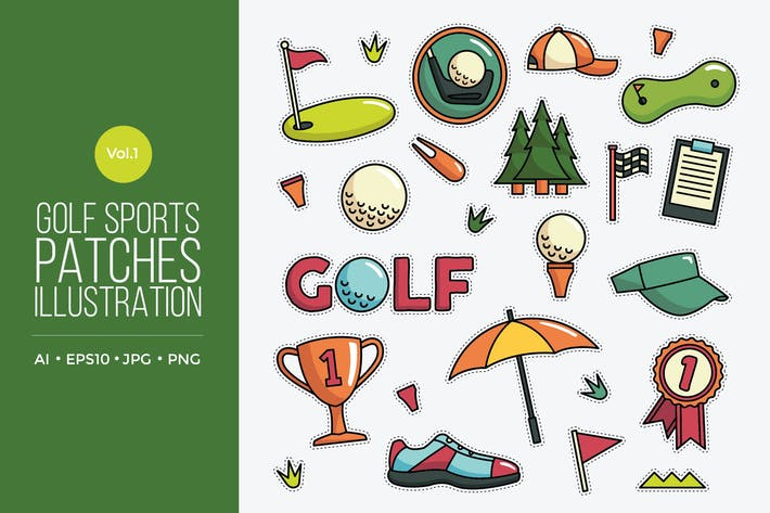 Thumbnail for Golf Vector Patches Vol.1