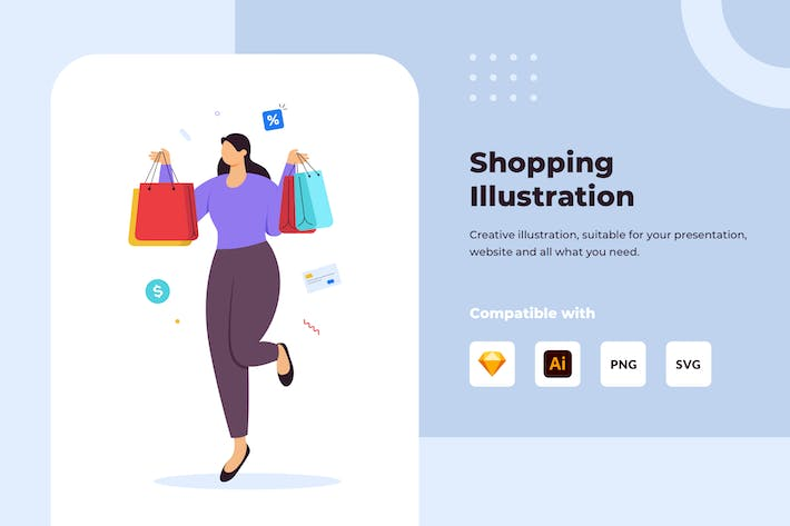 Thumbnail for Shopping Illustration Concept