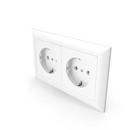Two European Standard Wall Socket Outlet