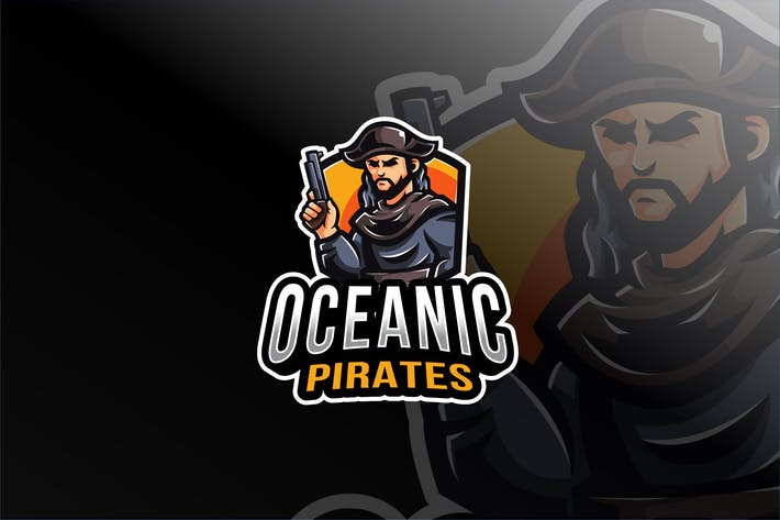 Thumbnail for Oceanic Pirates Esport Logo Template