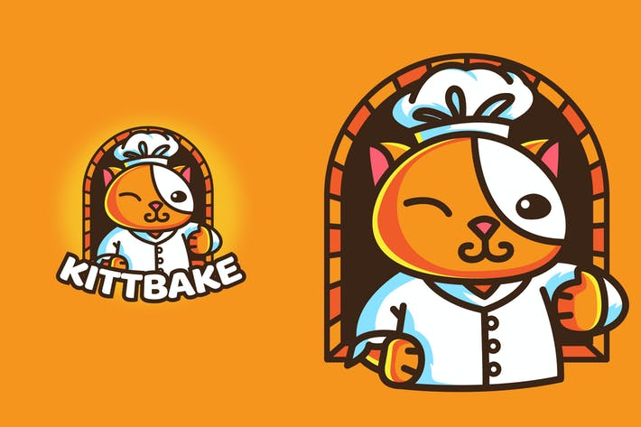 Thumbnail for BAKERY CAT - Mascot & Esport Logo
