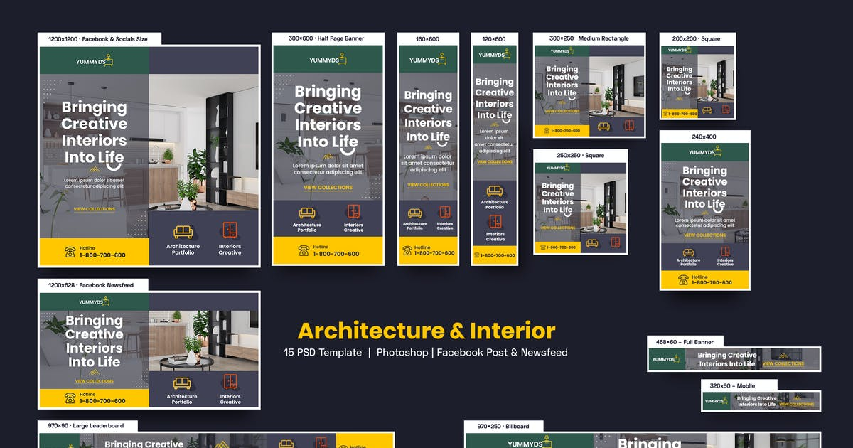 Download Architecture & Interior Banners Ad by YummyDs