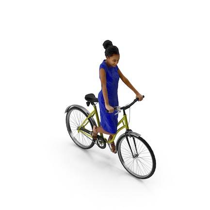 Woman Riding Bike Macire