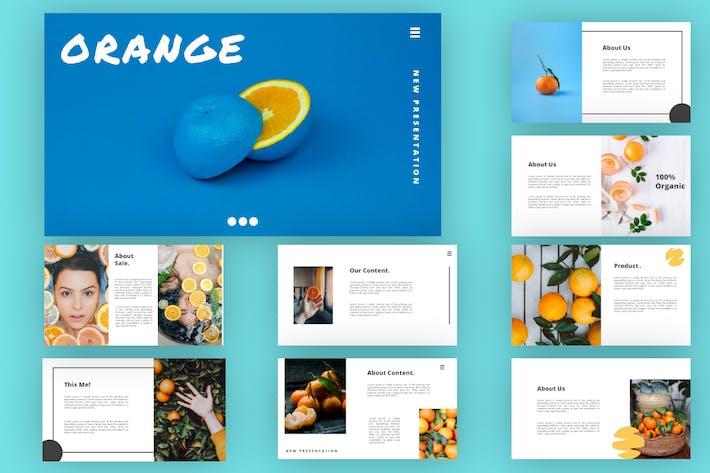 Оранжевый - Keynote вая презентация