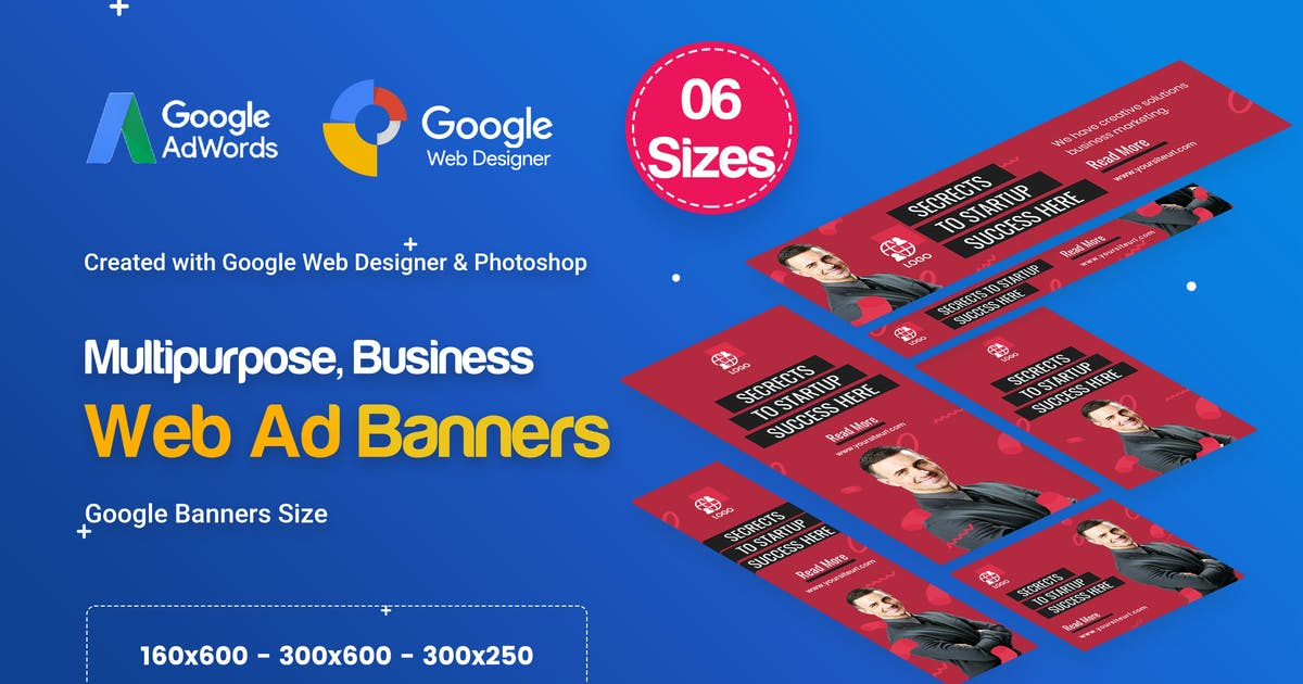 Multi Purpose Banners HTML5 D28 - GWD & PSD by iDoodle