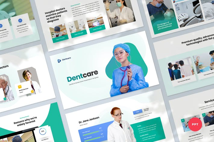 Thumbnail for Dental Clinic Powerpoint Presentation Template