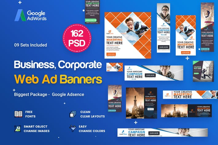 Thumbnail for Multipurpose, Business Banners Ad - 162 PSD