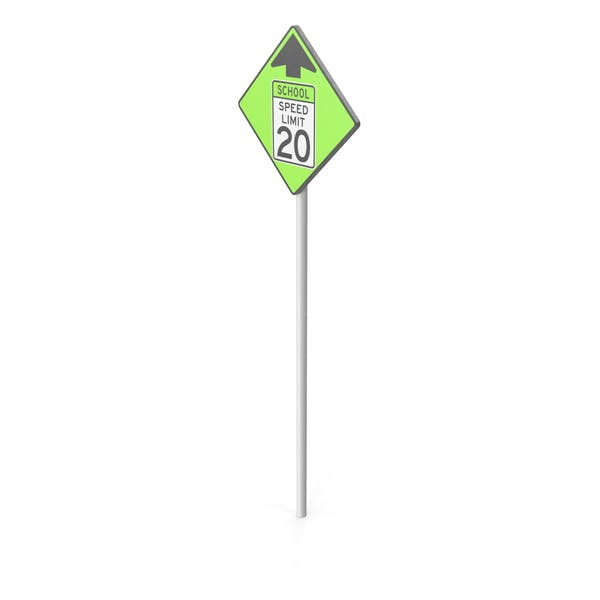 Thumbnail for School Speed Limit Sign