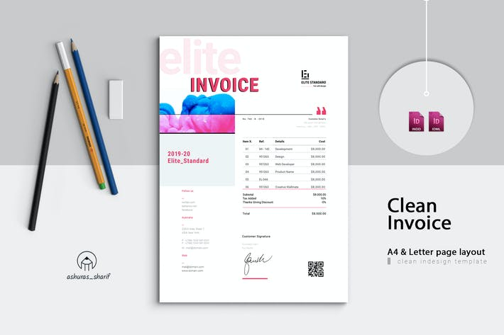 Invoice Template By Ashuras Sharif On Envato Elements