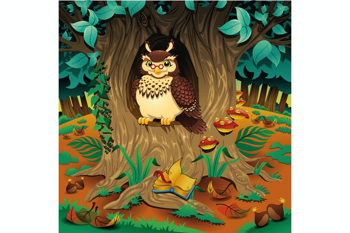 Thumbnail for Scene with owl.