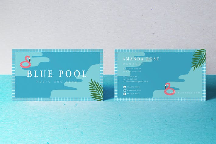 Thumbnail for Blue Pool Business card