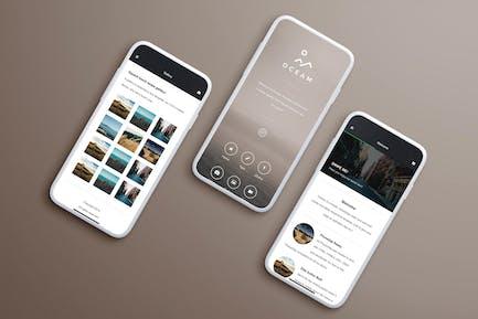 Oceam | Mobile Website Template