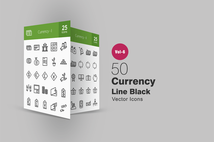 50 Иконки строки валюты