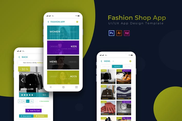 Thumbnail for Fashionshop | App Design Template