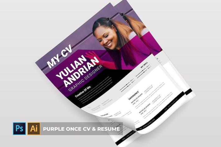 Thumbnail for Purple Once | CV & Resume