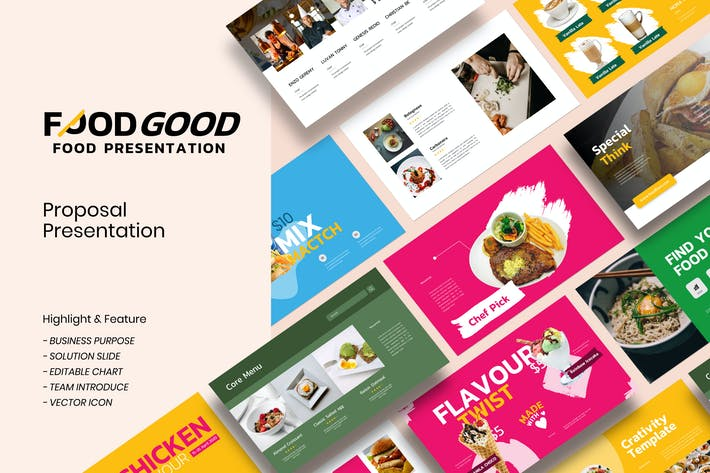 Thumbnail for Foodgood Presentation Template - JJ